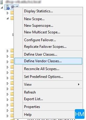 Define vendor Classes